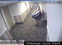 A woman looted a hotel room, not knowing (or caring) that security cameras recorded her criminal actions