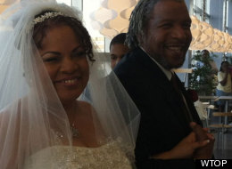 Julie Rodgers and Willie Pittman tied the knot at IKEA on Tuesday night.