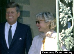 President John F. Kennedy and Mary Pinchot Meyer in Pennsylvania in September 1963.