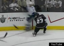 Vancouver's Henrik Sedin delivered a cheap shot to Los Angeles' Dustin Brown in Game 4.
