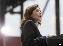 Labor Secretary Hilda Solis in Tampa, Fla. on April 13