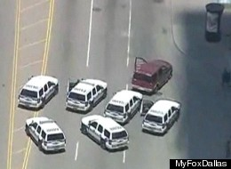 Police went on a wild car chase through Dallas on Thursday.