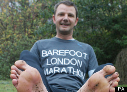 Grundy has been barefoot running for a while, walking barefoot across canyons in his native Australia
