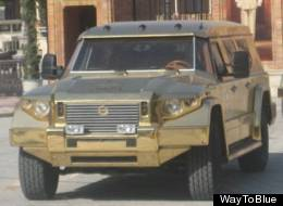 The Dictator is cutting a dash in this little gold-plated number