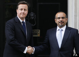 David Cameron with the Crown Prince of Bahrain
