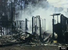 Bob Calvert's home was burned to the ground Tuesday after a squirrel allegedly started a fire nearby.
