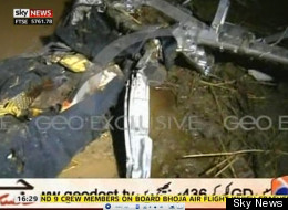 Wreckage at the crash site