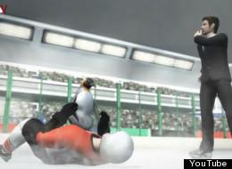Hockey violence caught the eye of the animators at Taiwan's Next Media Animation.