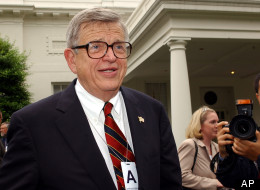 Chuck Colson speaks about his prison ministries program outside the West Wing of the White House, Wednesday, June 18, 2003. (AP Photo/Susan Walsh)