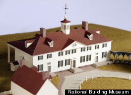 A model of George Washington's Mount Vernon, in Alexandria, Virginia.
