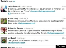 Twitter has rushed to the aid of Murdoch