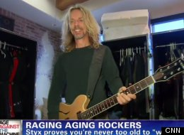 Tommy Shaw demonstrated the 'windmill' on CNN.