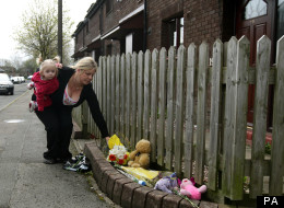 Tributes to the killed toddler have been left outside Rio's home