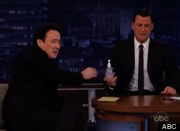 John Cusack celebrates his Walk Of Fame star by doing Purell shots with Jimmy Kimmel