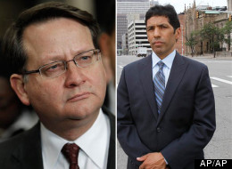 Incumbent Rep. Gary Peters (left) will face fellow Democrat and freshman Rep. Hansen Clarke (right) in Michigan's controversial new 14th district.