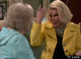 Joan Rivers plays Betty White's twin sister on