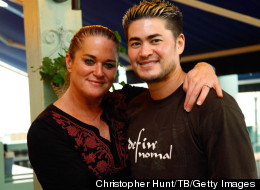 'Pregnant Man' Thomas Beatie and wife, Nancy, in happier times.