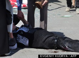 Une femme blessée à Dnipropetrovsk le 27 avril 2012