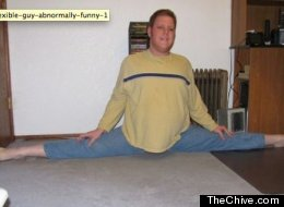 It's no stretch to say this guy is flexible.