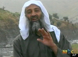 Osama bin Laden is seen in this image broadcast Wednesday April 17, 2002, by the London-based Middle East Broacasting Corp. (AP Photo/MBC via APTN)