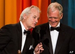 Bill Murray and David Letterman at the first Comedy Awards in 2011
