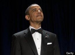President Barack Obama joked about Seamus Romney and dog
