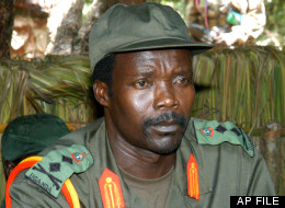 Joseph Kony, leader of the Lord's Resistance Army during a meeting with a delegation of 160 officials and lawmakers from northern Uganda and representatives of non-governmental organizations in this Monday, July 31, 2006 file picture in the Democratic Republic of Congo near the Sudan border. (AP Photo, File)