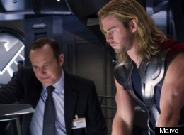 Clark Gregg With Chris Hemsworth