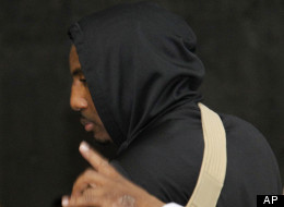 New York Knicks' Amare Stoudemire leaves American Airlines Arena with his left arm in a sling after an NBA basketball game against the Miami Heat in the first round of the Eastern Conference playoffs in Miami, Monday, April 30, 2012. The Heat defeated the Knicks 104-94. (AP Photo/Lynne Sladky)