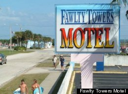 The Fawlty Towers Motel has gone clothing optional in a bid to try and save the business.