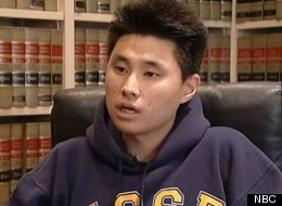 Daniel Chong, seen here in an interview with NBC, was wrongfully imprisoned for 5 days without food or water.