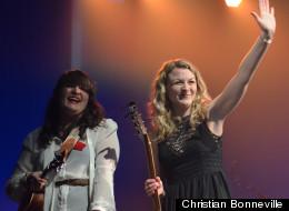 Les sœurs Boulay, grandes gagnantes des Francouvertes 2012.