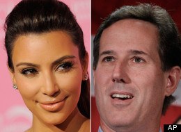 Reality television star Kim Kardashian said she's impressed with former GOP hopeful Rick Santorum and his daughters.