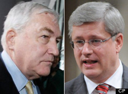 Prime Minister Stephen Harper is suggesting the government would be just as happy if disgraced media baron Conrad Black had been denied entry to Canada. (CP)