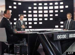 Le plateau du débat entre François Hollande et Nicolas Sarkozy
