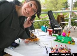 La comédienne aurence Dauphinais au Festival d'arts vivants (OFFTA).