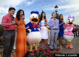 Los presentadores de Despierta América en transmisión en vivo desde Disney
