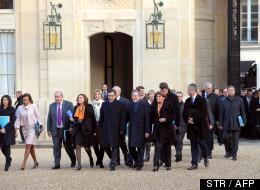 Des membres du gouvernement français et de leurs cabinets à l'Elysée le 4 janvier 2012