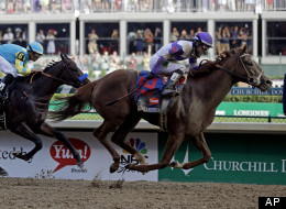 Jockey Mario Gutierrez rides I'll Have Another to victory in the 138th Kentucky Derby horse race at Churchill Downs Saturday, May 5, 2012, in Louisville, Ky. (AP Photo/Morry Gash)