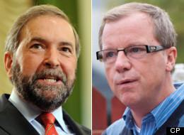 Saskatchewan Premier Brad Wall is using Twitter to poke at federal NDP Leader Thomas Mulcair. (CP)