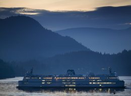 A B.C. ferry leaves the Horseshoe Bay terminal in West Vancouver. CP