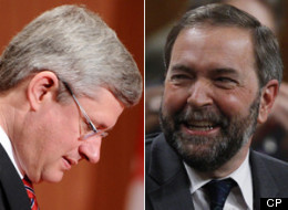 The Canadian Press Harris Decima survey indicates that the NDP have 34 per cent of popular support, compared to 30 per cent for the Conservatives. (CP)