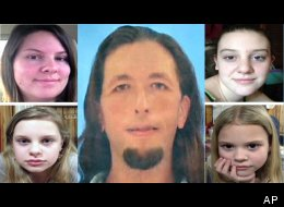 Adam Mayes allegedly killed Jo Ann Bain, upper left, and one of her three daughters. The other two girls, Alexandria and Kyliyah, were later rescued by authorities.