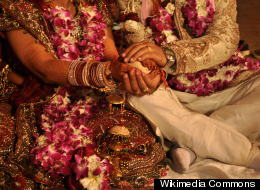 Scene from a Hindu wedding (Wikimedia Commons)