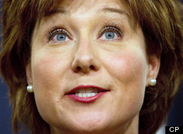 B.C. premier Christy Clark says Mulcair's stance on the oilsands is 'goofy.' (CP)