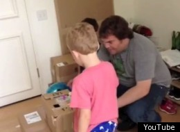 Jack Black and his two sons play at