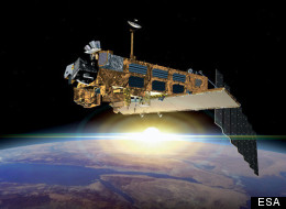 Artist's impression of the European Space Agency's huge Envisat Earth-observing satellite, which stopped communicating with Earth in April 2012.