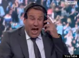 Sky Sports' Paul Merson was in shock during Manchester City's stunning comeback to win the English Premier League title.