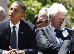 Mitt Romney suggests there's friction between President Barack Obama and former President Bill Clinton.