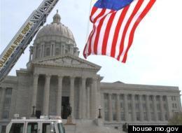 The Missouri state capitol in Jefferson City.